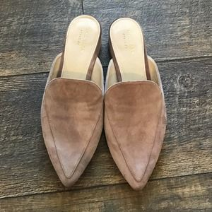 *Sale Cole Haan Piper Pointed Toe Suede Mules Pink